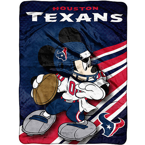 "Disney - NFL Rush 46"" x 60"" Micro Throw, Houston Texans"