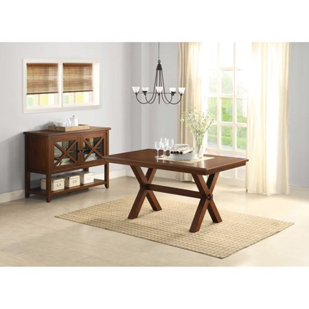 homes and gardens maddox crossing dining table brown
