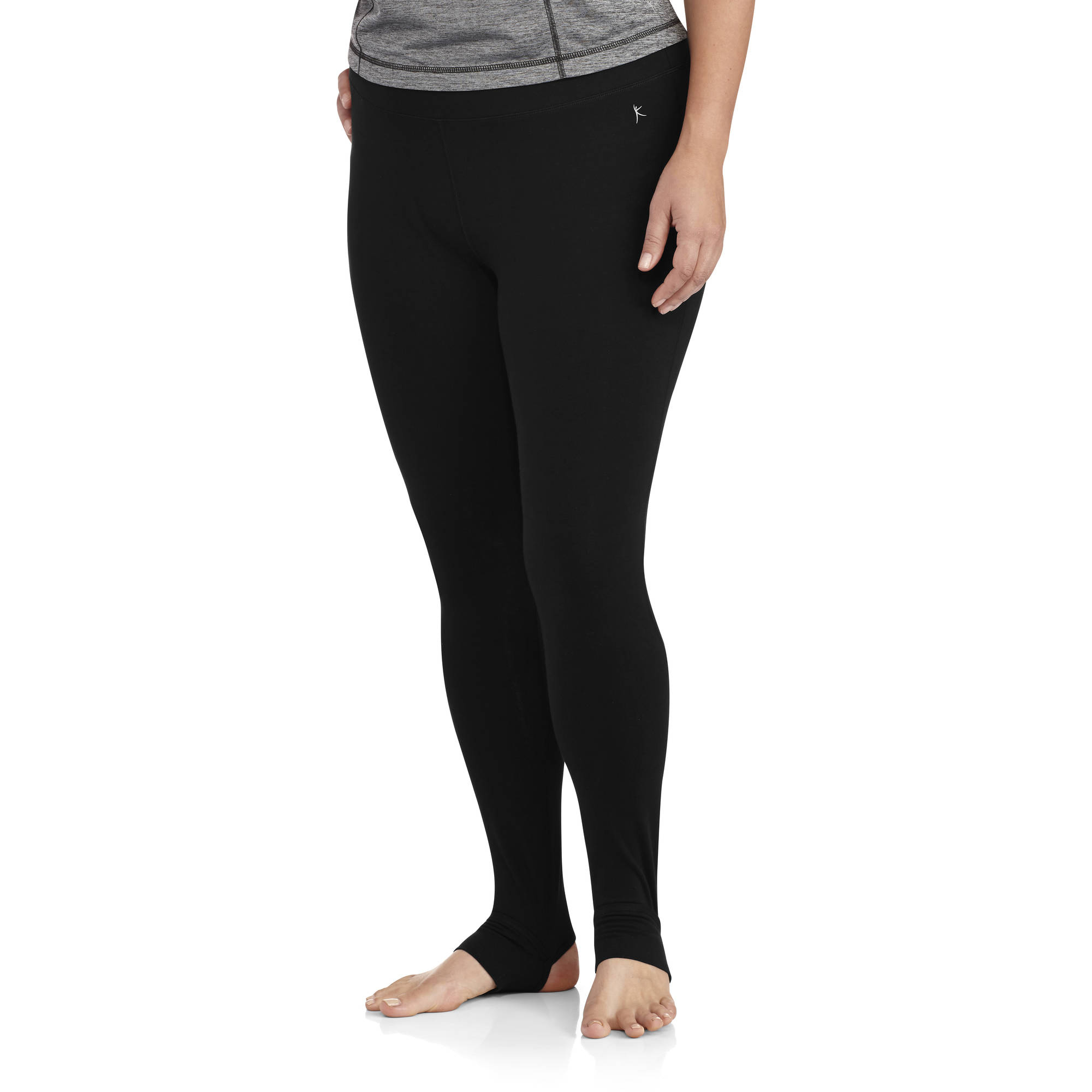 Womens Black Stirrup Leggings