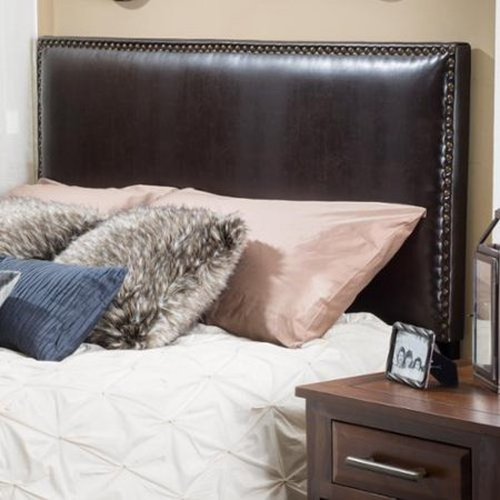 Christopher Knight Home Hilton Adjustable King  California King Bonded Leather King Headboard By
