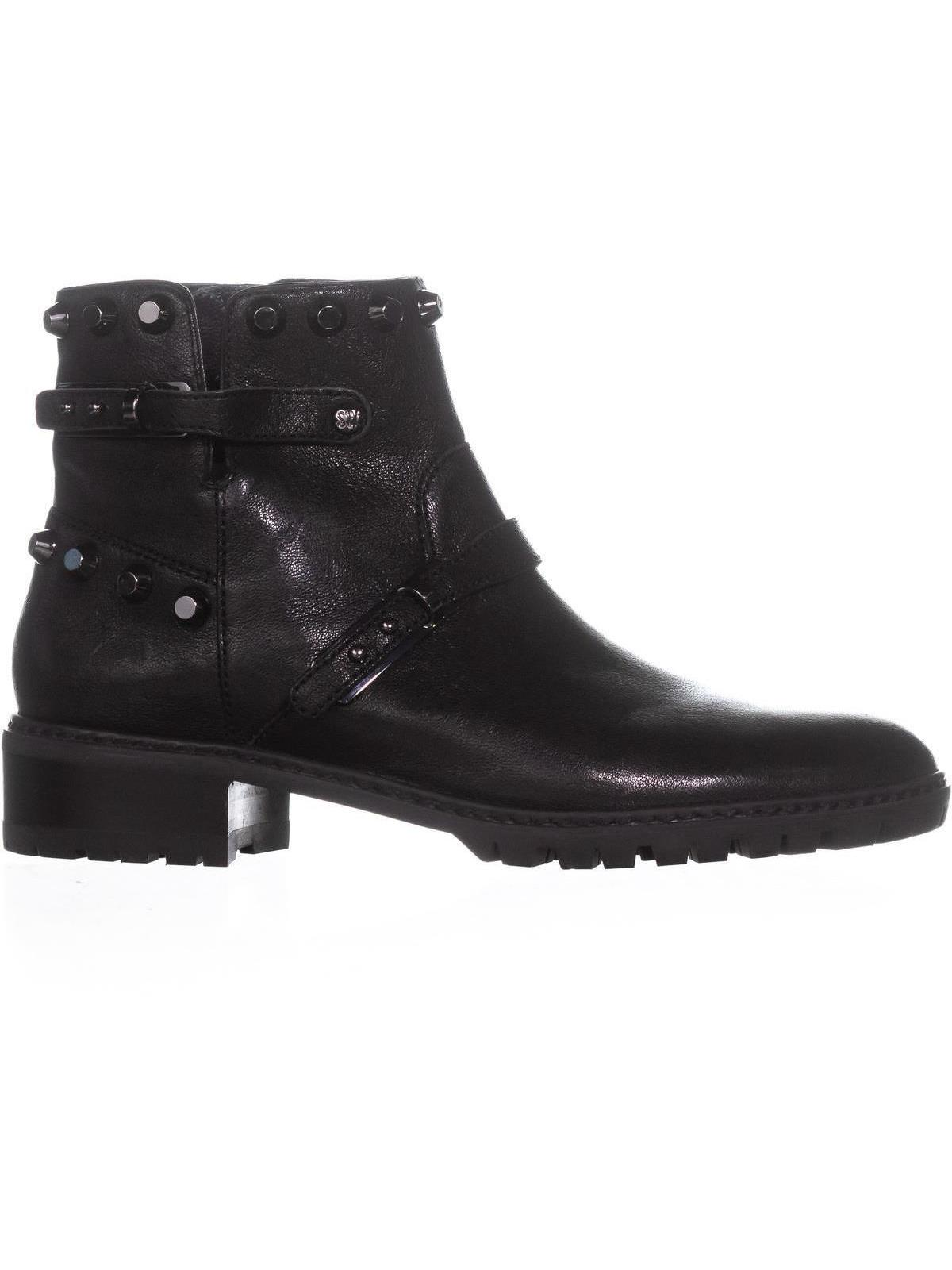 Womens Stuart Weitzman Nugowest Rhinestone Boots, Black, 7 US