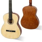 Ktaxon 39 Inch 4/4 Size Classical Guitar 19 Frets Beginner Kit for Students Children Adult,Burlywood