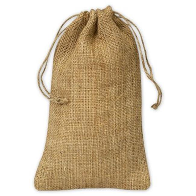 Deluxe Small Business Sales 925-21 5.75 x 9.75 in. Burlap Cloth Bags, Brown