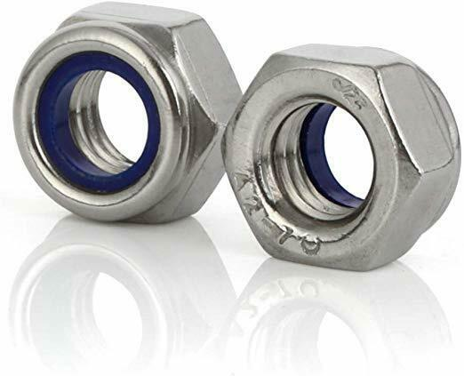 M16-2mm Metric flange nuts serrated Stainless steel 18-8 A-2 5 pcs