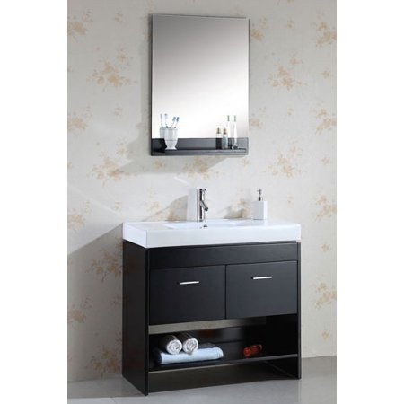 Virtu Usa Ms 555 C Es 36  Gloria   Espresso   Single Sink Bathroom Vanity