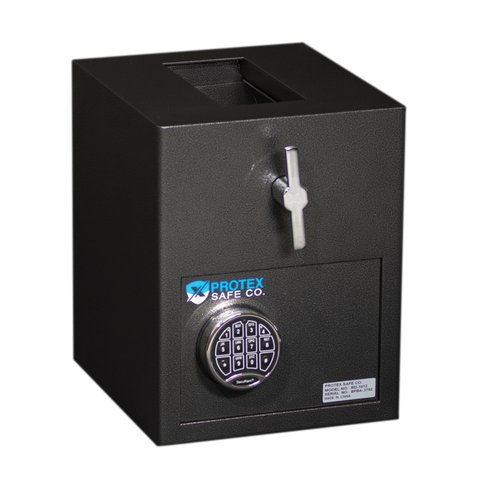 Protex Safe Co. Mini Rotary Hopper Depository Safe with Electronic Lock