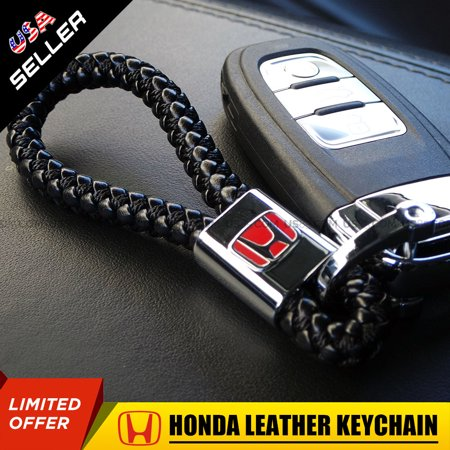 Hound Accessories (Honda Red H Emblem Calf Leather Alloy Keychain Gift Decoration Accessories )