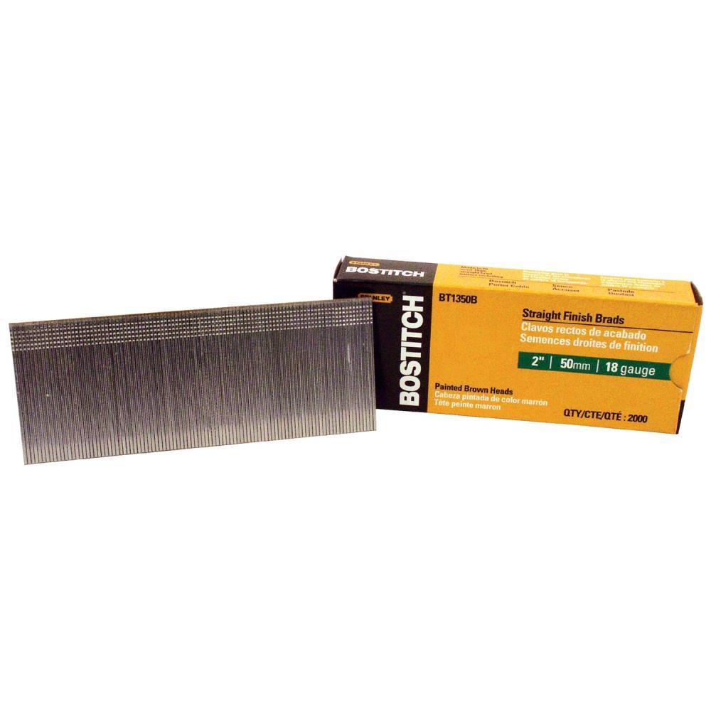 brad 18ga 2 50mm brown2000 per box Bostitch Brads Brad 18Ga 2 50Mm Brown2000 Per Box 688-Bt1350B