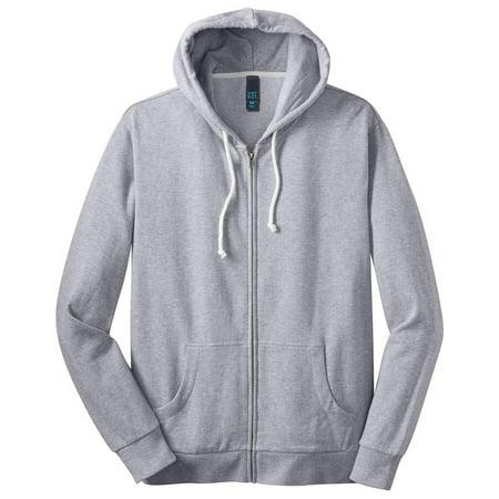 District Men's Core Fleece Drawcord Full-Zip - Core Fleece Hoodie