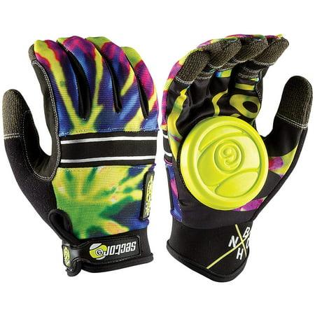 BHNC Slide Gloves S/M - Limeburst, Size Small / Medium By Sector 9 (Sector Nine Skate Gloves)