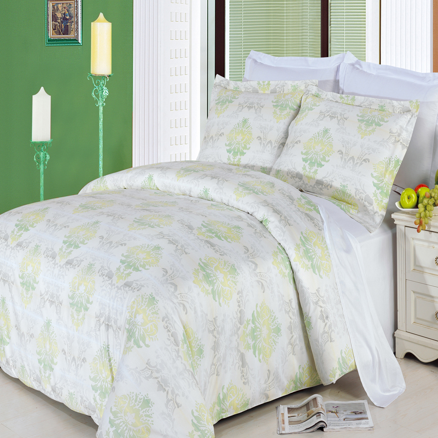 Clearance: Soft 100% Cotton Printed 3 Piece Duvet Cover Set-Full/Queen-Lana