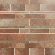 Bond Tile Easy Luxe Railroad Terra 11.81 in. x 11.81 in. SPC Peel and Stick Tile (0.96 Sq. Ft. / Sheet)