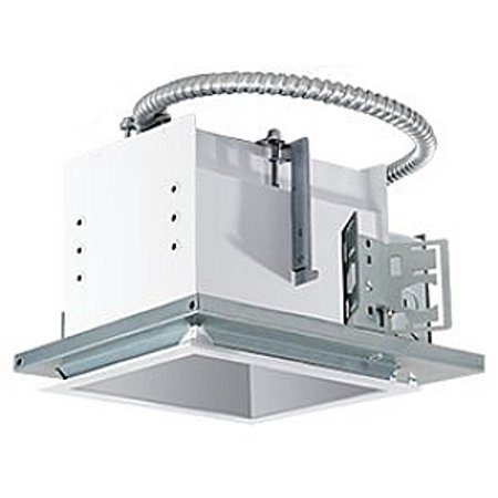 RAB Lighting White 1 Fixture Head Trim Recessed New Construction Mounting Frame and Housing ()