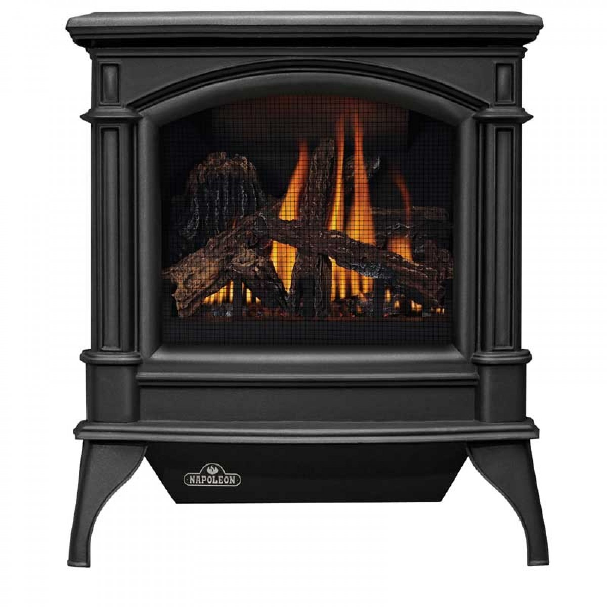 Click here to buy GVFS60-1P Cast Iron Stove Body Painted Metallic Black Propane by Napoleon.