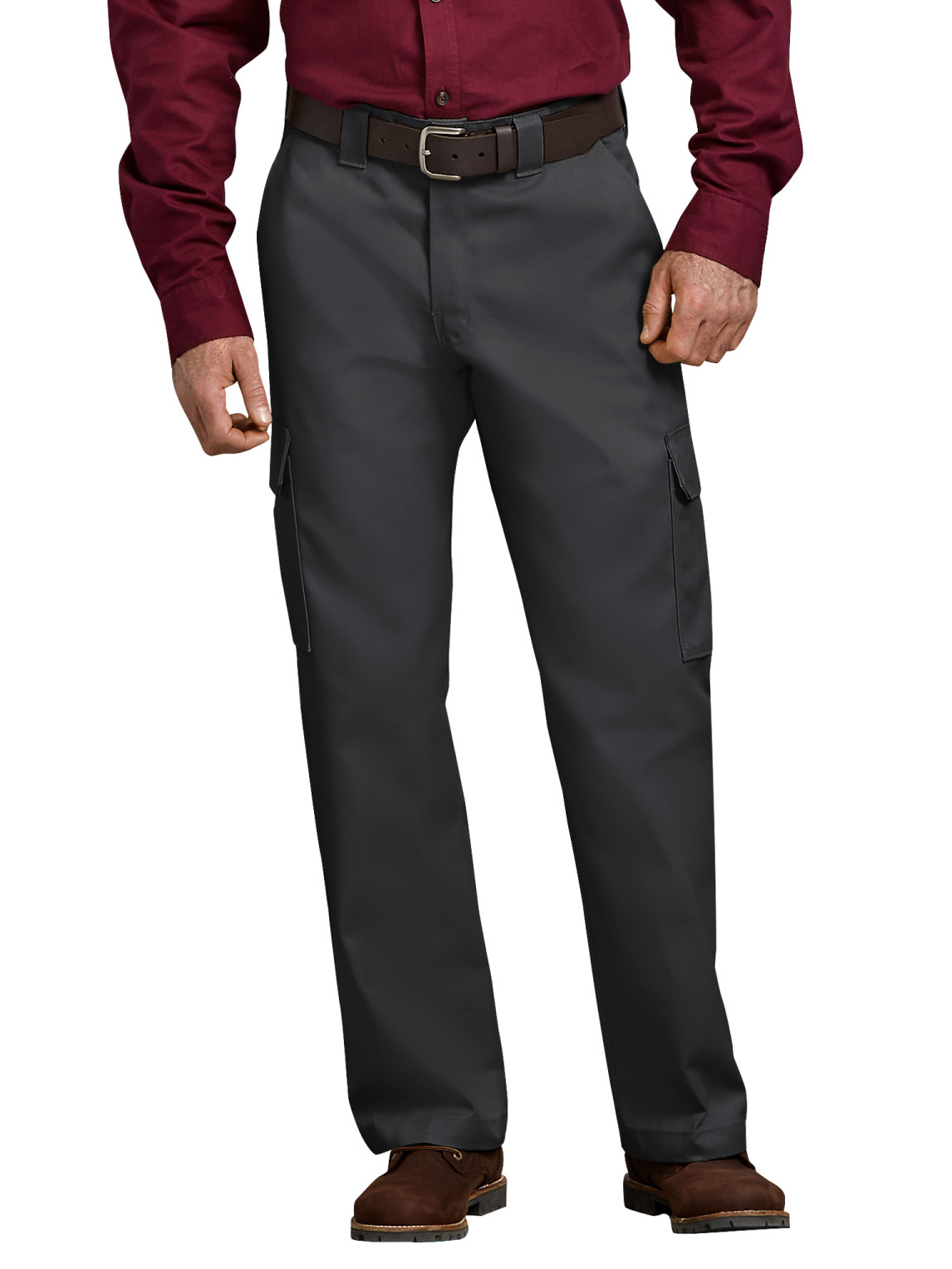 Men's Relaxed Fit Straight Leg Cargo Work Pants