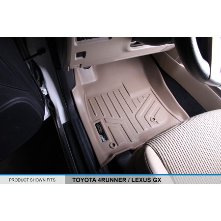Maxliner 2010-2012 Toyota 4Runner 2010-2013 Lexus GX Floor Mats First Row Set Tan A1040 2007 Tan 1st Row