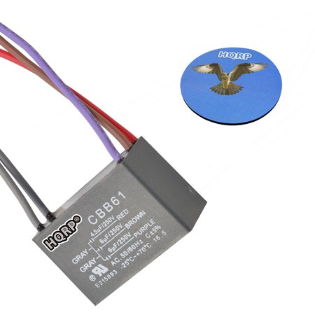 Hqrp Capacitor For Hampton Bay Ceiling Fan Cbb61 4 5uf 6uf