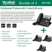 Yealink SIP-T23G 4-UNITS 3-Line HD Professional IP Phone VoIP LCD PoE Gigabit