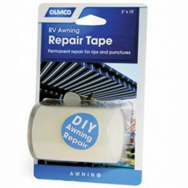 "RV 42623 5"" x 15' RV Clear Awning Repair Tape By Camco ..."