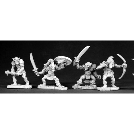 Reaper Miniatures Goblin War Band #02481 Dark Heaven Legends Unpainted Metal