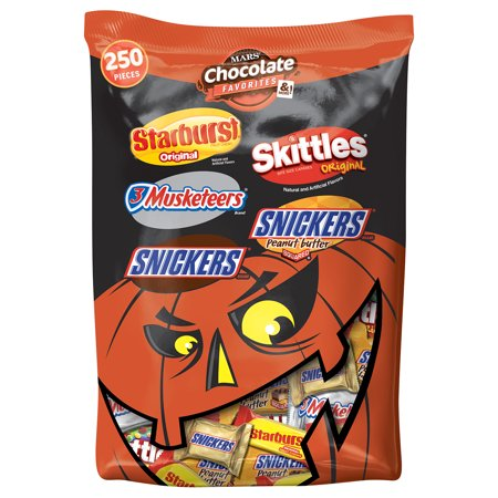 Mars Chocolate, Halloween Candy, Favorites Mix, 95 Oz, 250 Ct for $<!---->