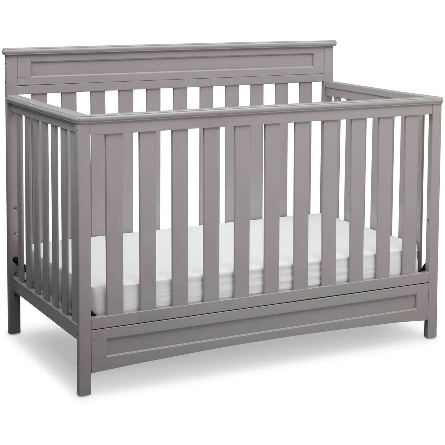 Delta Children Geneva 4-in-1 Convertible Crib Gray