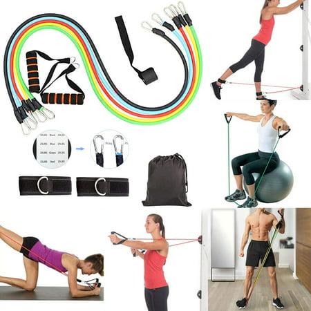 koszal 11pcs / set latex fitness resistance bands exercise
