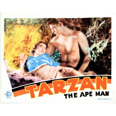 Tarzan The Ape Man Us Lobbycard From Left Maureen Osullivan Johnny Weissmuller 1932 Movie Poster Masterprint