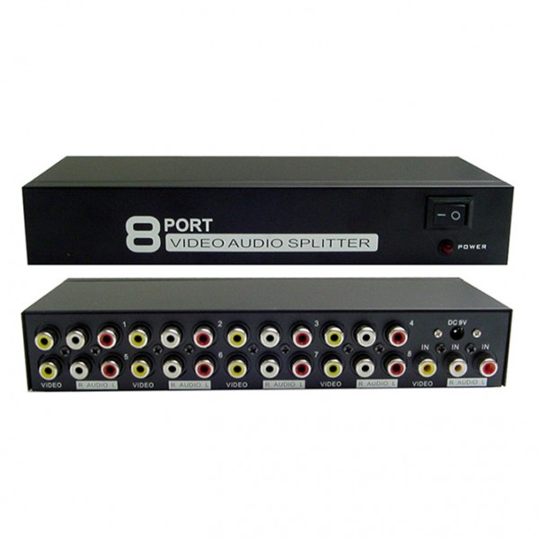 Calrad 40-809-8 1 x 8 Port Audio and Video Distribution Amplifier