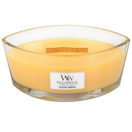 Woodwick Hearthwick Flame 16 Oz. Candle - Seaside Mimosa