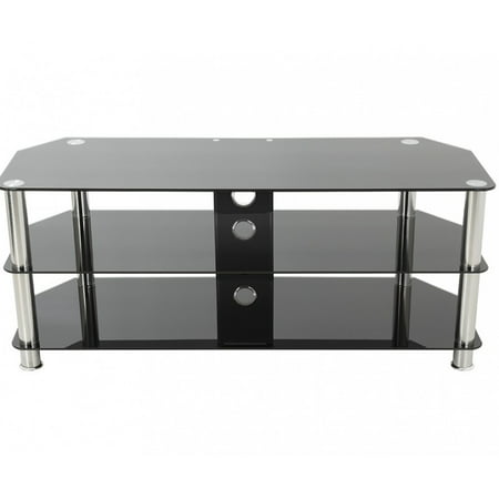 AVF Classic Corner Glass TV Stand with Cable Management for up to 60