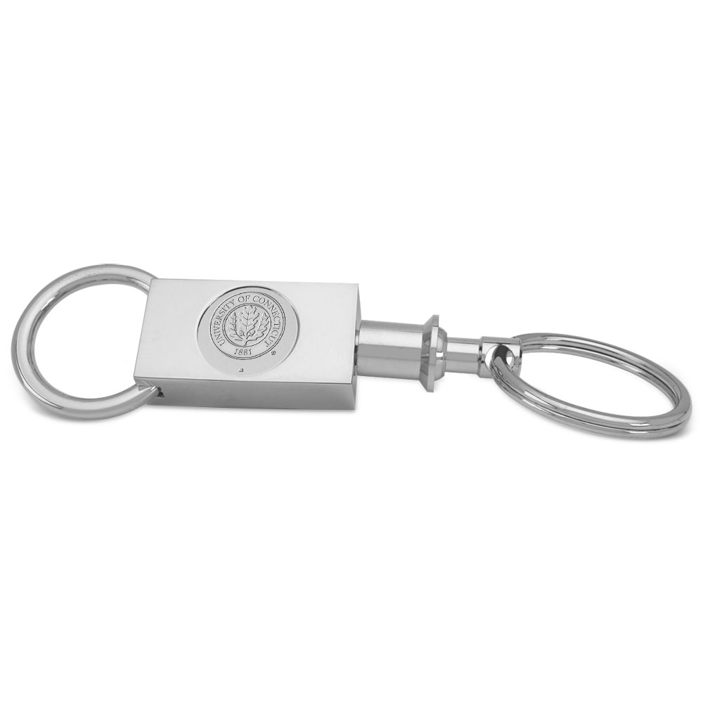 Connecticut Silver Two-section Key Ring by