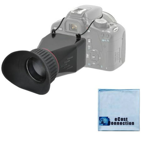 Elite Series 3.4x Magnification Adjustable Lock-In-Place LCD Viewfinder for Cameras, Fits on Most 3