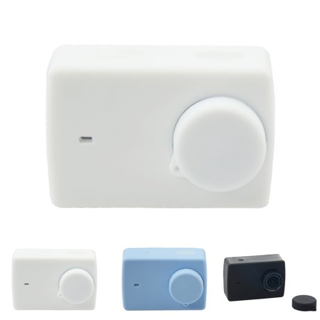 Homeholiday Candy Color Replacement for Xiaomi Yi 2 Action Camera Soft Silicone Protect Case Skin and Lens Cap Cover - image 7 of 8