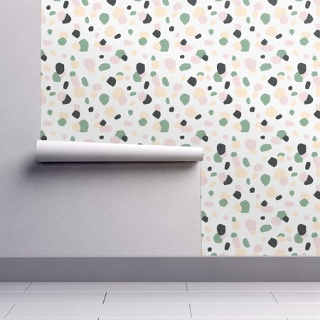 Peel-and-Stick Removable Wallpaper Terrazzo Abstract Confetti Stone Camouflage