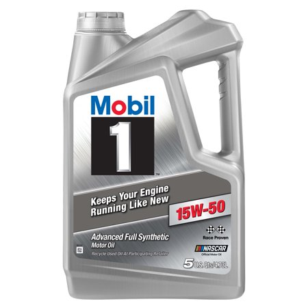 Mobil 1 Advanced Full Synthetic Motor Oil 15W-50, 5 qt.