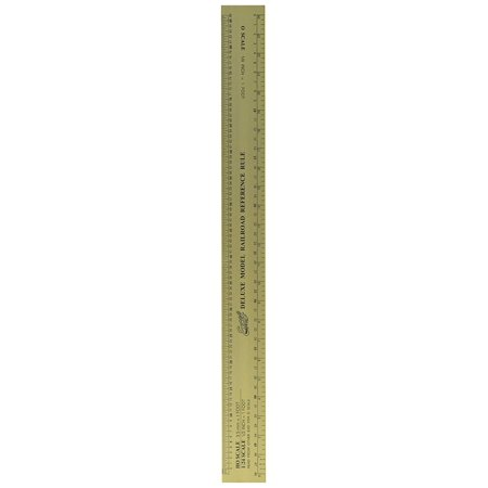 Excel Deluxe Model Railroad Reference ruler, N, HO, O, and scales, 64ths and mm By Excel Blades