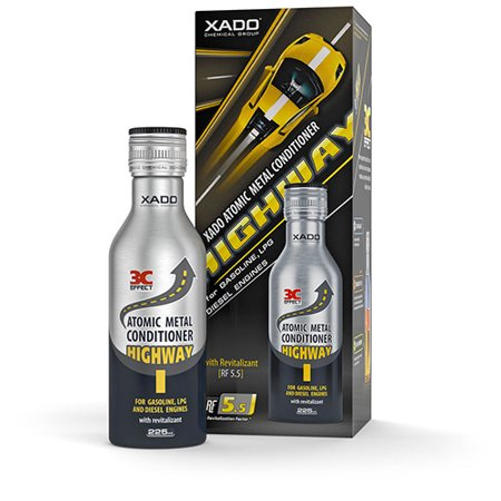 Xado Atomic Metal Conditioner HighWay with Revitalizant for Gasoline LPG and Diesel Engines Treatment