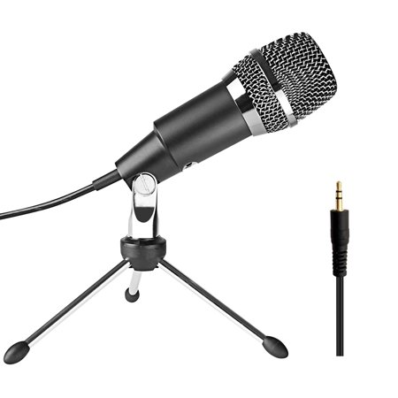FIFINE 3 5mm Plug and Play Condenser Microphones for Computer PC Online  Chat,Omnidirectional Microphone for Skype,YouTube,Google Voice Search,