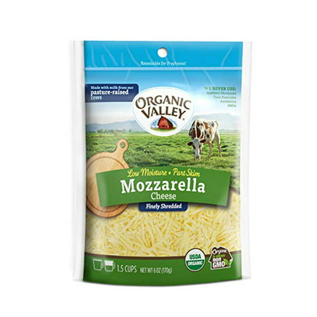 Organic Valley Shredded Mozzarella Cheese, 6