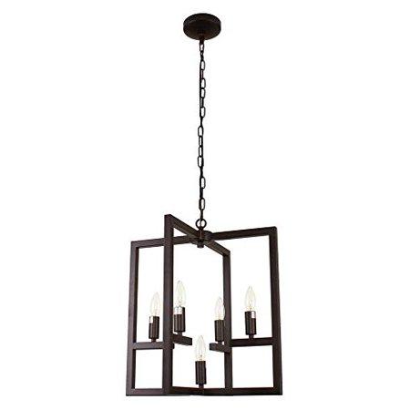 - CHLOE Lighting IRONCLAD Farmhouse 5 Light Oil Rubbed Bronze Ceiling Pendant 18