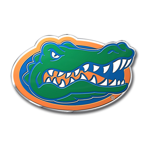 Florida Gators Aluminum Auto Emblem Decal Sticker