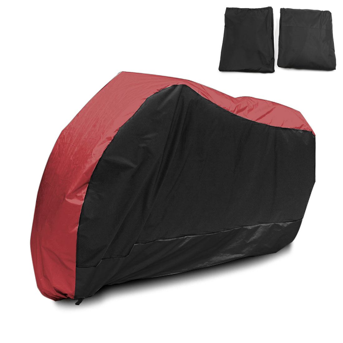 XL 180T Rain Dust Motorcycle Cover Red&Black Outdoor Rainproof UV Protector