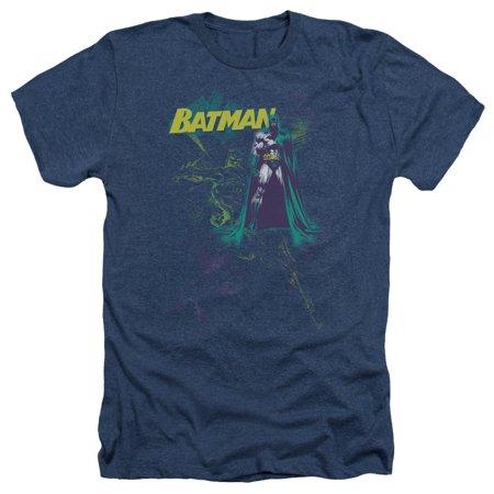 Batman/Bat Spray Mens Heather Shirt