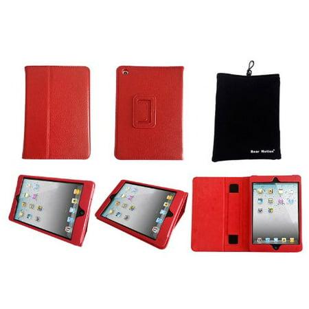 Bear Motion for iPad Mini - Genuine Cowhide Leather Case for iPad Mini 1 / 2 / 3 - (Cowhide Leather Mini)