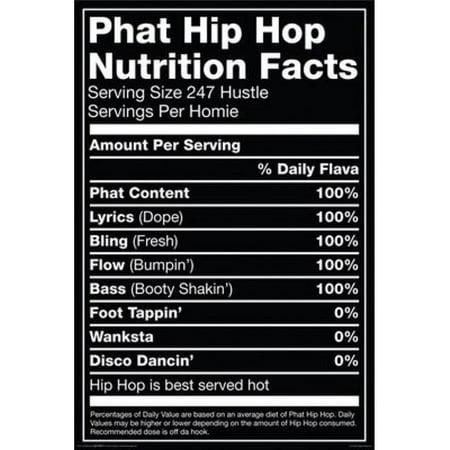 posterazzi nmr241171 hip hop nutrition label poster print 24 x