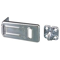 Latching Hasp,Fixed,Natural,4-1/2 In. L MASTER LOCK 704