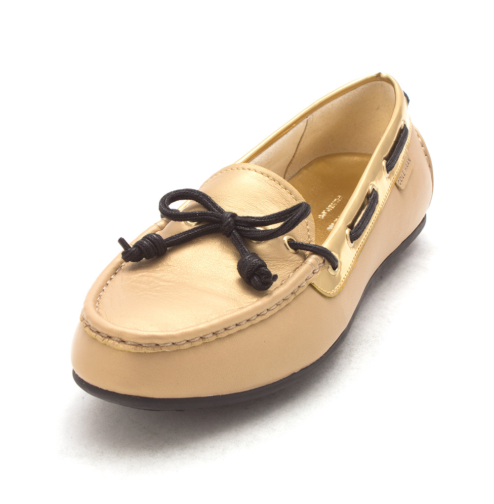 Cole Haan Womens Arleighsam Closed Toe Boat Shoes, Gold, Size 6.0