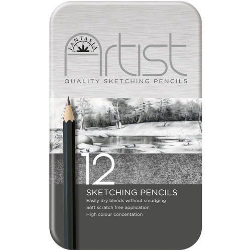 Fantasia Premium Sketching Pencil Set, 12pc
