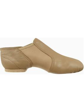 fc390adc3d Product Image Beige Leather Split-Sole Design Neoprene Wrap Wide Jazz Shoes  5-13 Womens. Dance Class